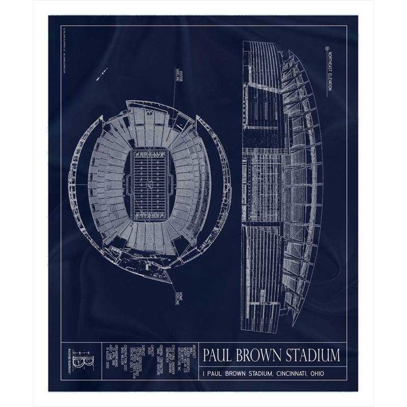 Paul Brown Stadium Fleece Sherpa Blanket