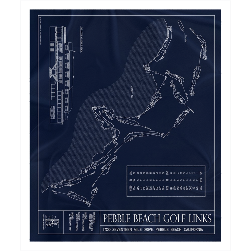 Pebble Beach Golf Links Fleece Sherpa Blanket
