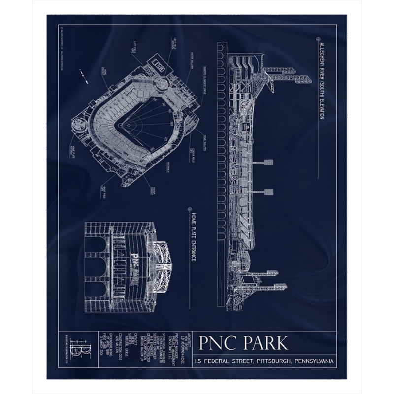 PNC Park Fleece Sherpa Blanket