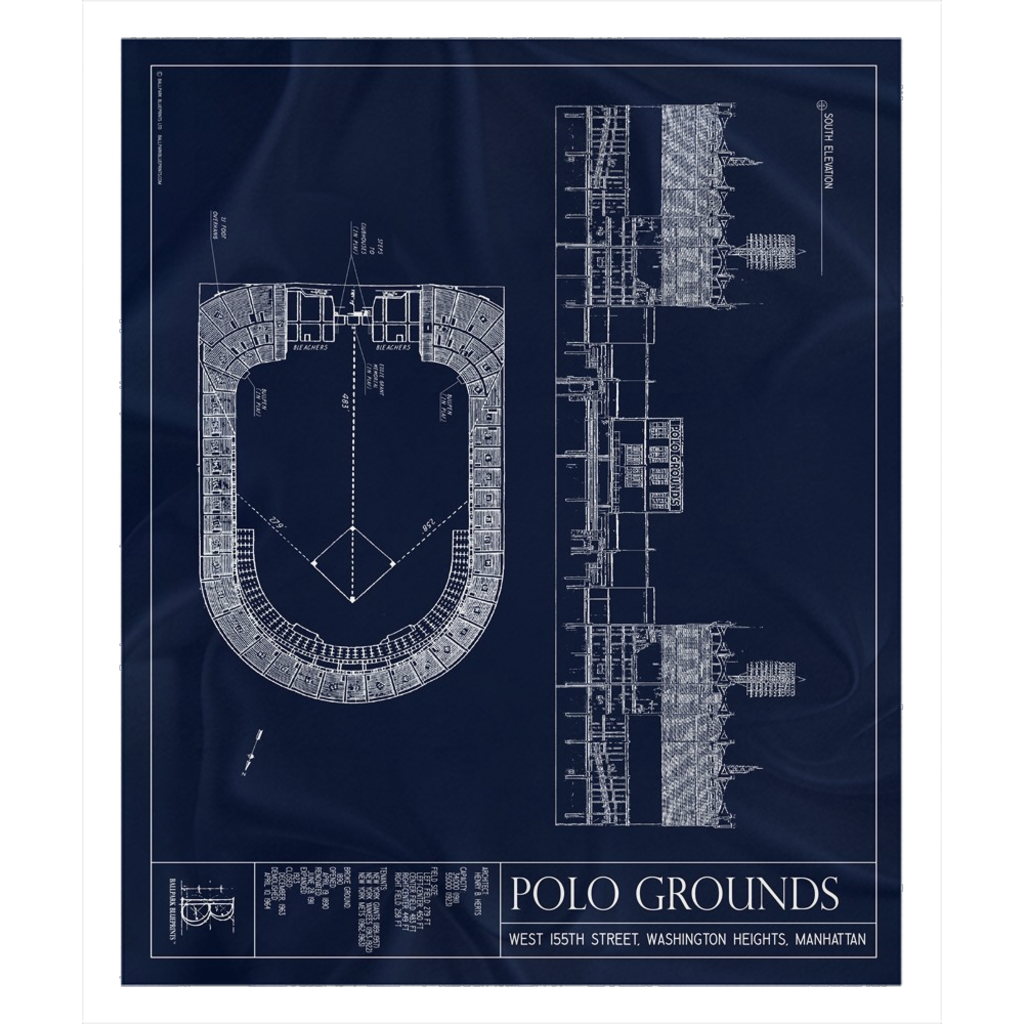 Polo Grounds Fleece Sherpa Blanket