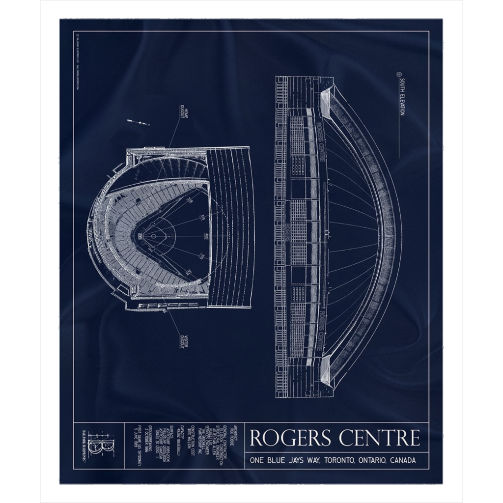 Rogers Centre Fleece Sherpa Blanket