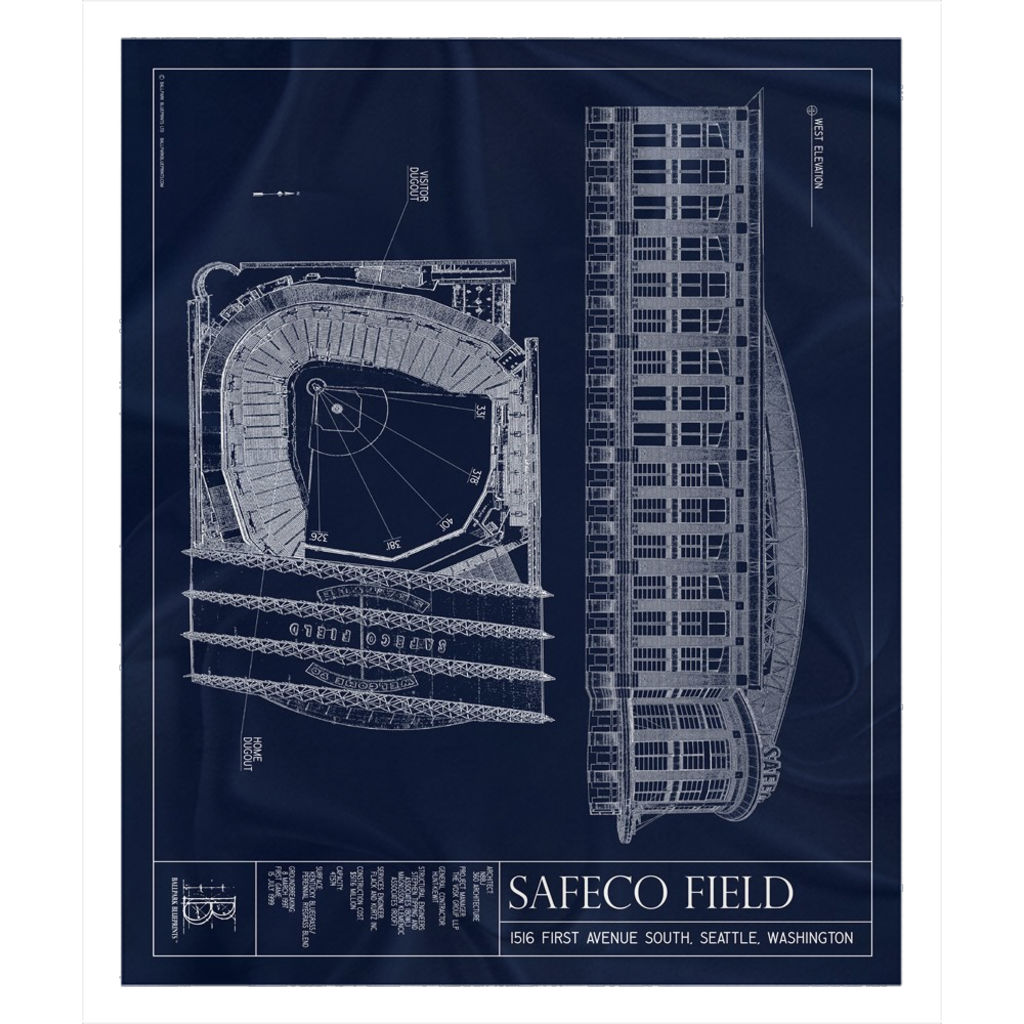 Safeco Field Fleece Sherpa Blanket