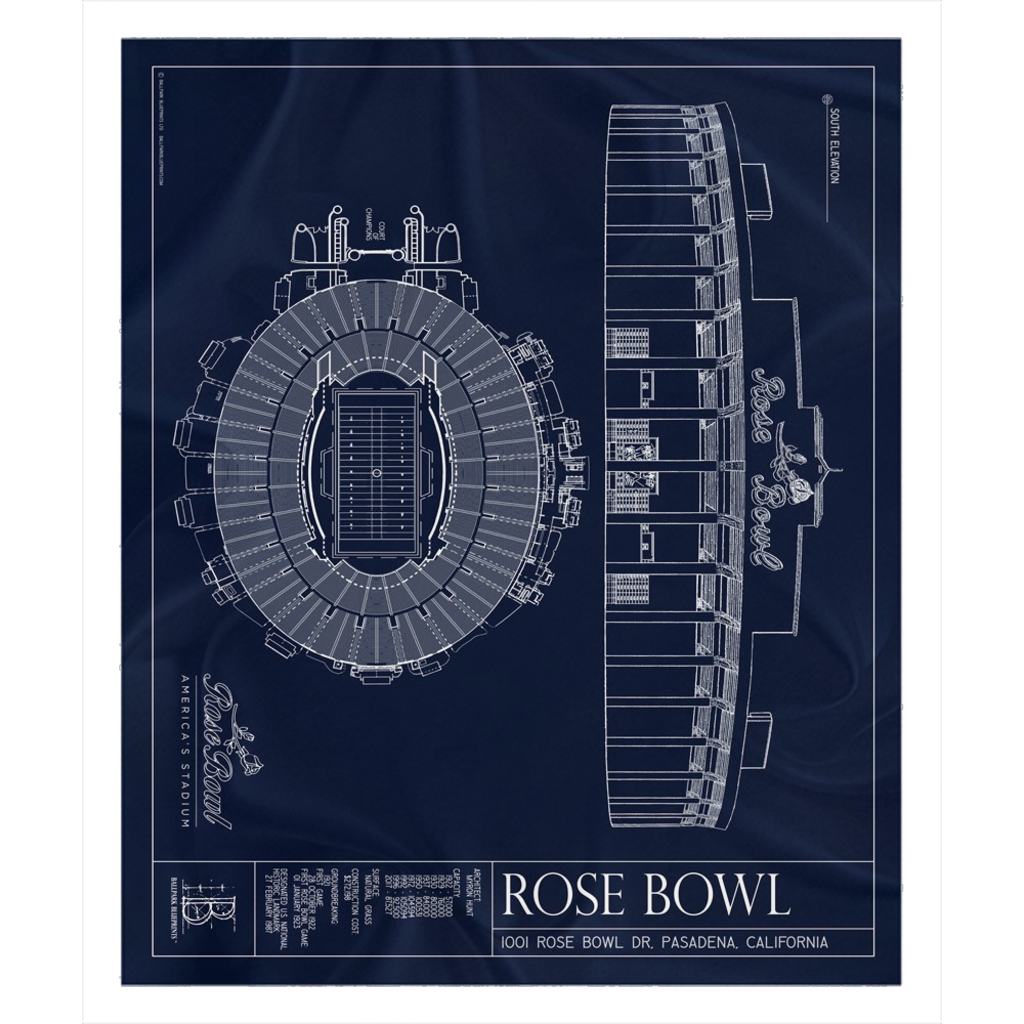 Rose Bowl Fleece Sherpa Blanket