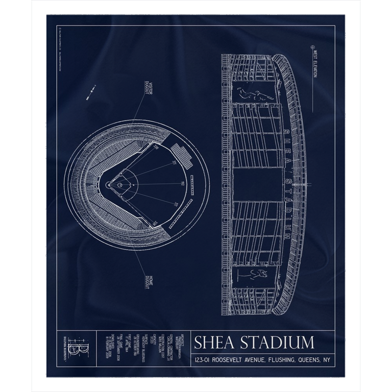 Shea Stadium Fleece Sherpa Blanket