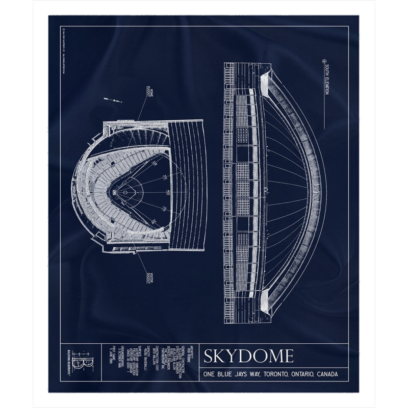 SkyDome Fleece Sherpa Blanket