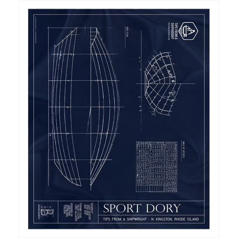 Tips from a Shipwright - Sport Dory Sherpa Fleece Blanket