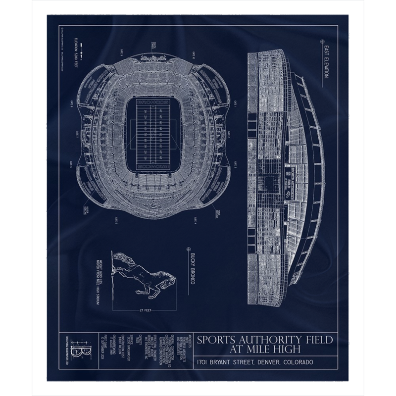 Sports Authority Field at Mile High Fleece Sherpa Blanket