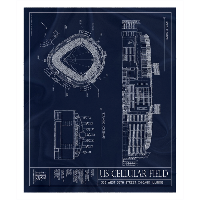 US Cellular Field Fleece Sherpa Blanket