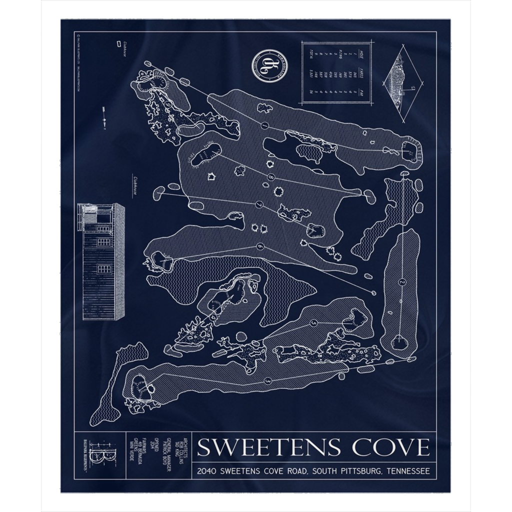 Sweetens Cove Fleece Sherpa Blanket