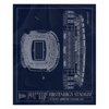 Arrowhead Stadium Fleece Sherpa Blanket
