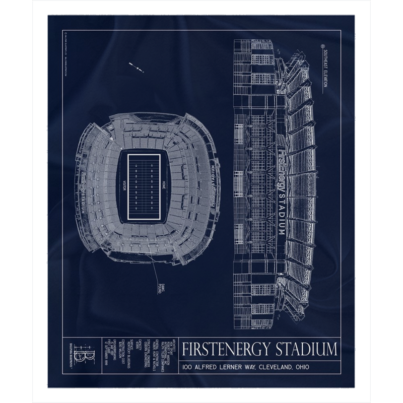 FirstEnergy Stadium Fleece Sherpa Blanket