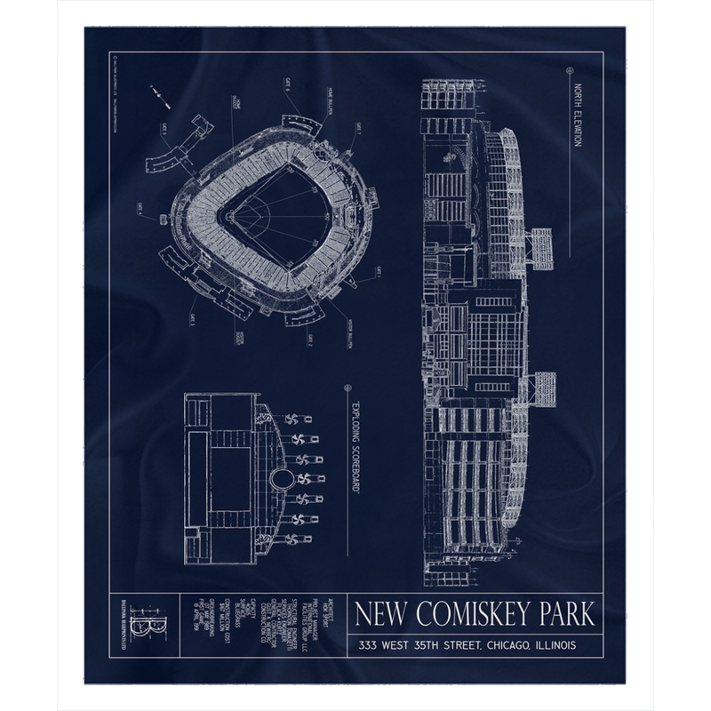 New Comiskey Park Fleece Sherpa Blanket