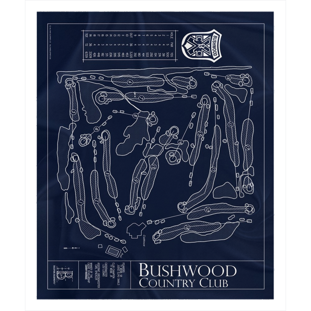 Bushwood Country Club Fleece Sherpa Blanket