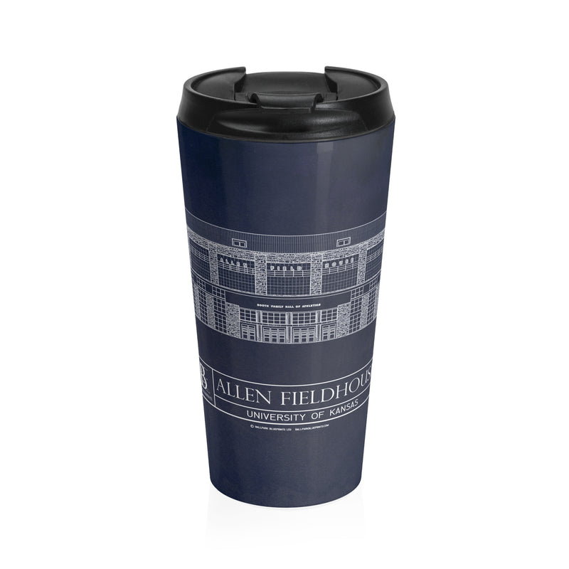 Allen Fieldhouse Stainless Steel Travel Mug
