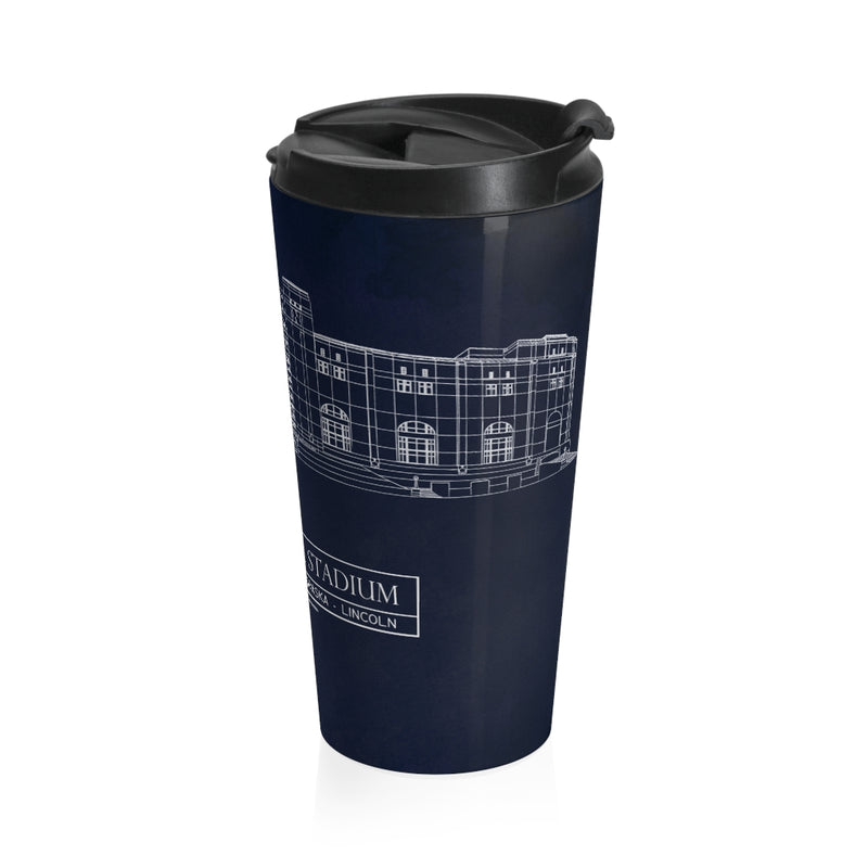 Nebraska Memorial Stainless Steel Travel Mug