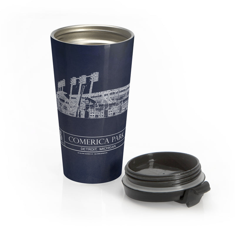 Comerica Park Stainless Steel Travel Mug