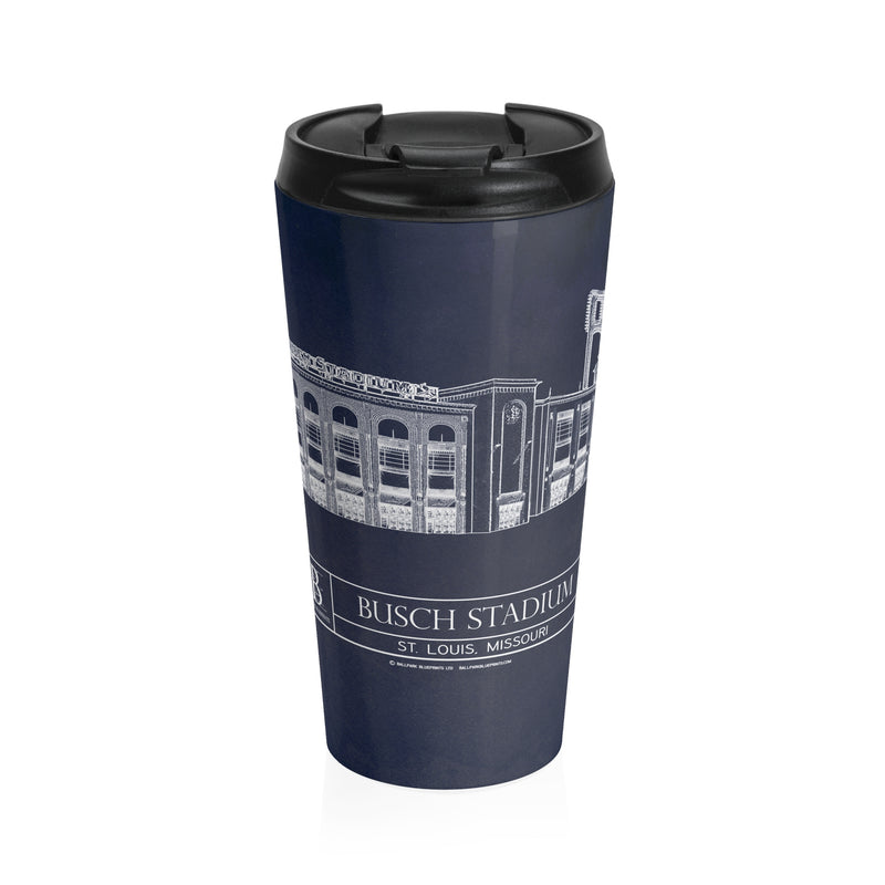 Busch Stadium Stainless Steel Travel Mug