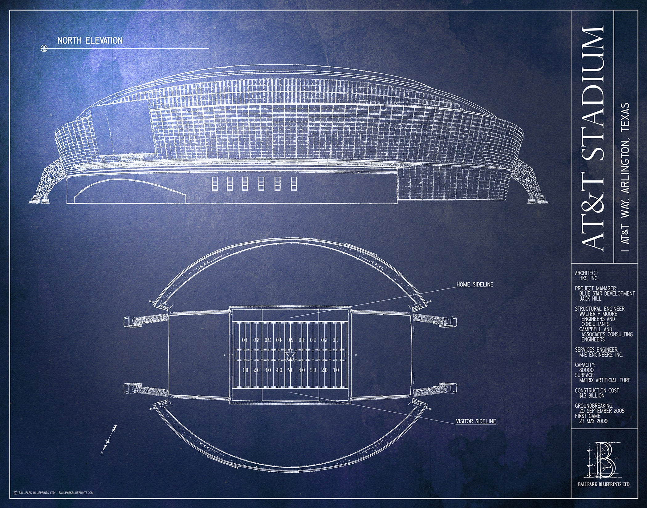 Att stadium dallas cowboys cowboys fan gifts ballpark blueprints att stadium dallas cowboys malvernweather