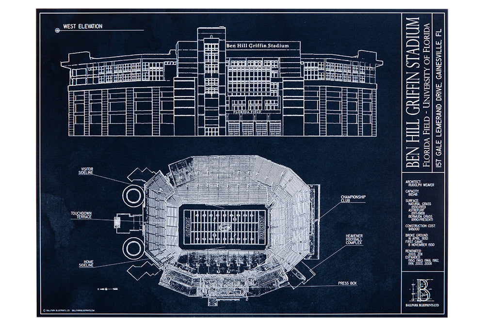 This unframed print of Ben Hill Griffin Stadium is a wonderful gift for the future U of F student.