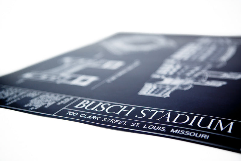 Our intricately detailed Ballpark Blueprints show off the beauty of Busch Stadium, home to the St. Louis Cardinals.