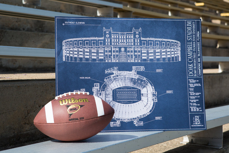 Need a Father's Day gift for the FSU alum who has it all? Our Ballpark Blueprint of Doak Campbell Stadium is a great addition to dad's FSU memorabilia.