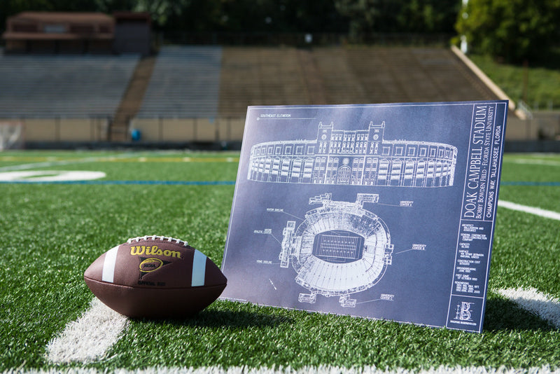 Need a unique gift for the Seminoles fan who has it all? Our Ballpark Blueprint of Doak Campbell Stadium is will go great with his FSU memorabilia.