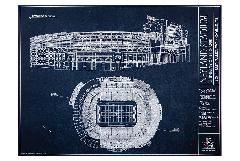 Neyland stadium university of tennessee ballpark blueprints neyland stadium university of tennessee malvernweather Gallery