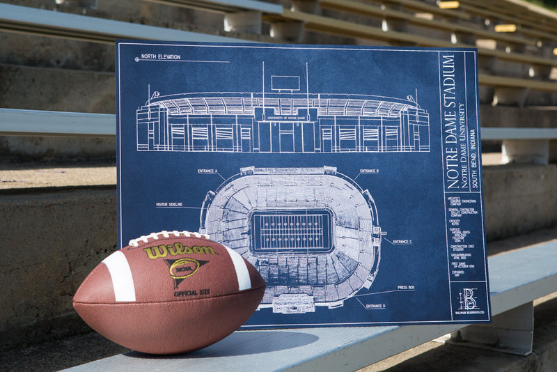 Our hand-drawn blueprints embody what Notre Dame Stadium so great.
