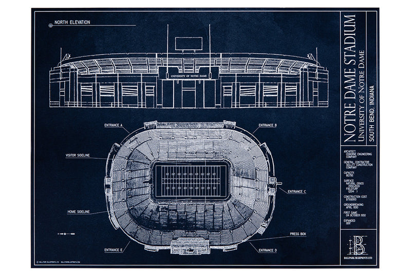 Hang this unframed print of Notre Dame Stadium on the walls of future Fighting Irish alums.
