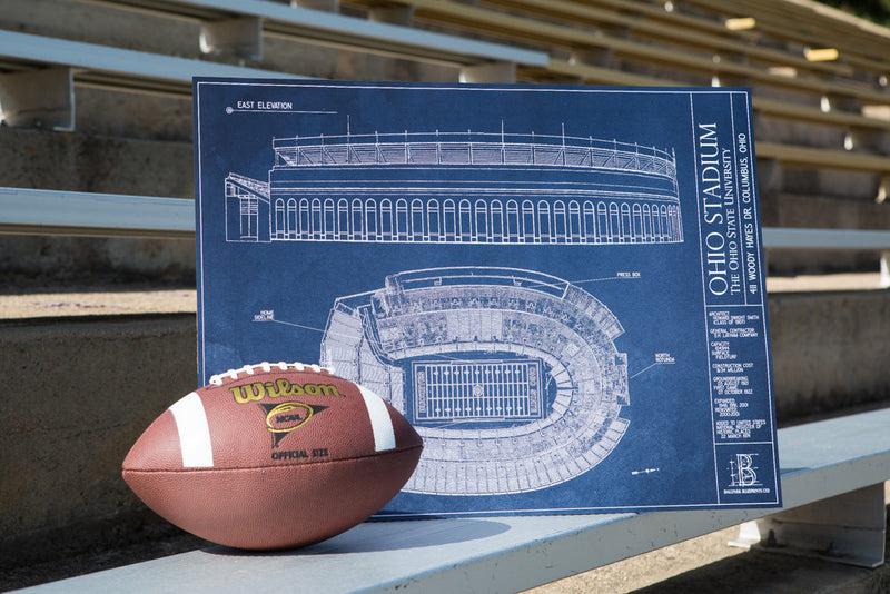 Our intricately detailed Ballpark Blueprints show off the spirit of Ohio Stadium, home to the Ohio State Buckeyes.