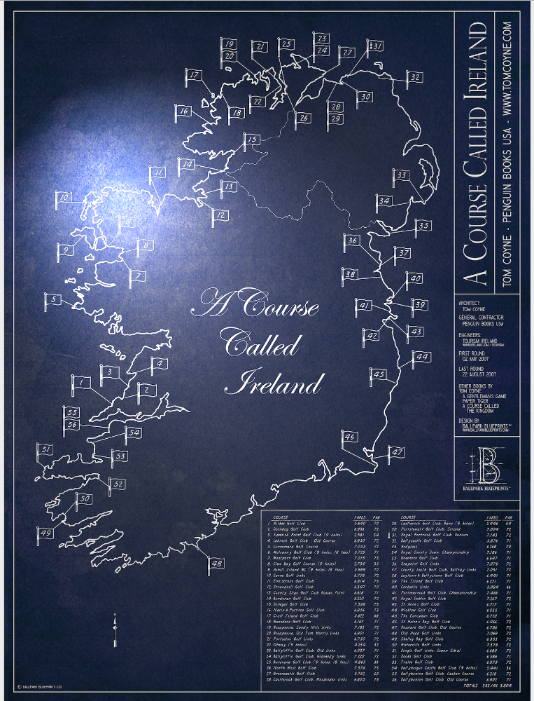 SALE - A Course Called Ireland - Large Metal Print