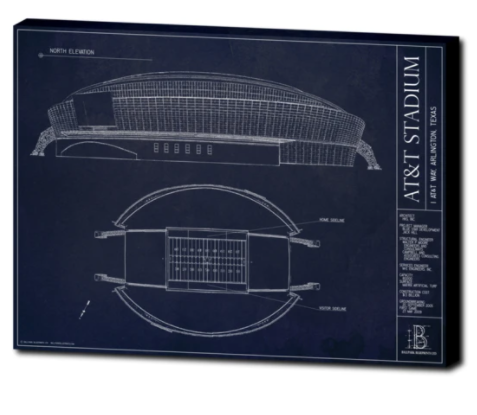 SALE - AT&T Stadium - Large Canvas