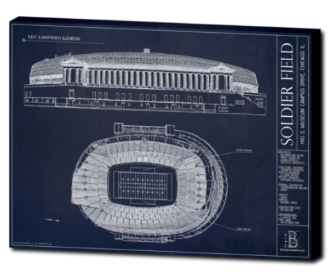 SALE - Soldier Field - Large Canvas
