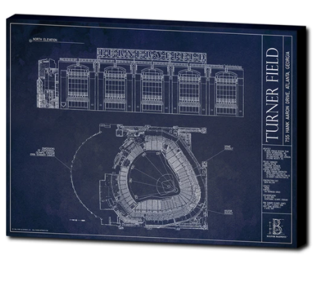 SALE - Ballparks of the National League - Large Framed Print (Walnut)