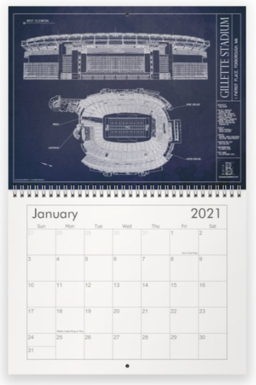 2021 Ballpark Blueprints Calendar - Football