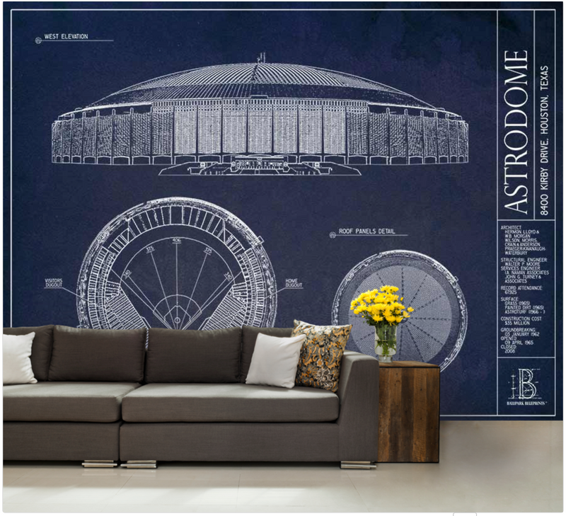 Astrodome Wall Mural
