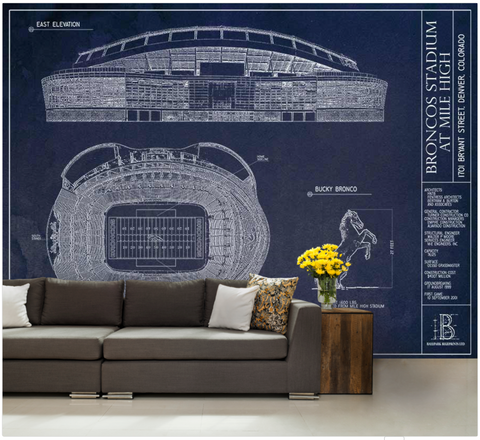 Bank of America Stadium Wall Mural