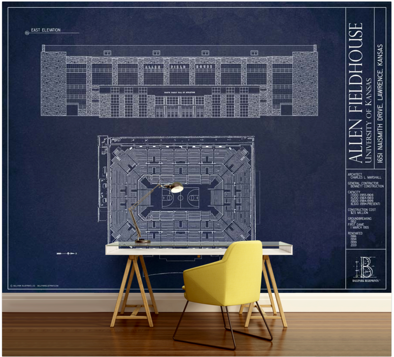 Allen Fieldhouse Wall Mural
