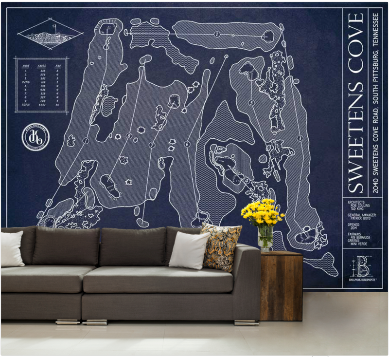 Sweetens Cove Golf Course Wall Mural