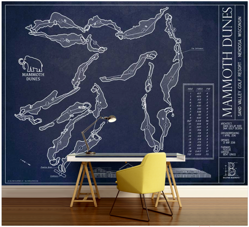 Mammoth Dunes Golf Course Wall Mural