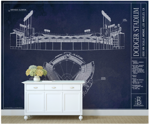 Dodger Stadium Wall Mural