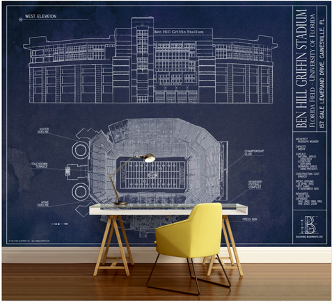 Stadiums of the Big Ten Wall Mural