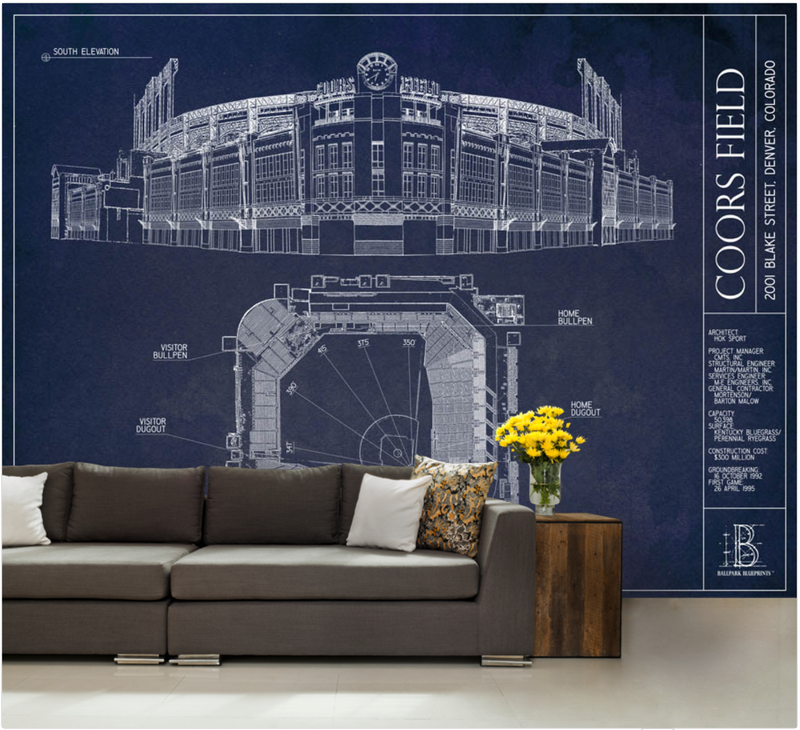 Coors Field Wall Mural