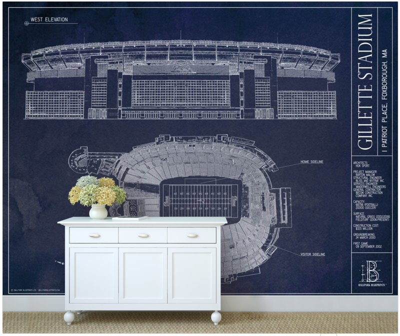 Gillette Stadium Wall Mural