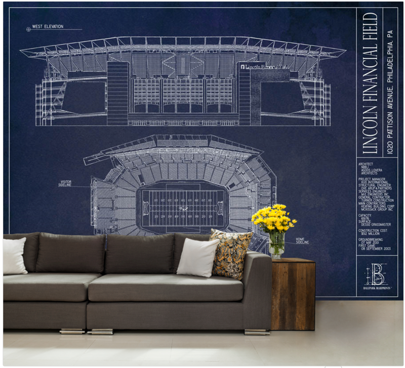 Lincoln Financial Field Wall Mural