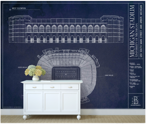 Michigan Stadium Wall Mural