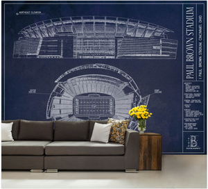 Paul Brown Stadium Wall Mural