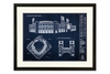 SPECIAL DEAL - Citizens Bank Park - Large Framed Print (Walnut)