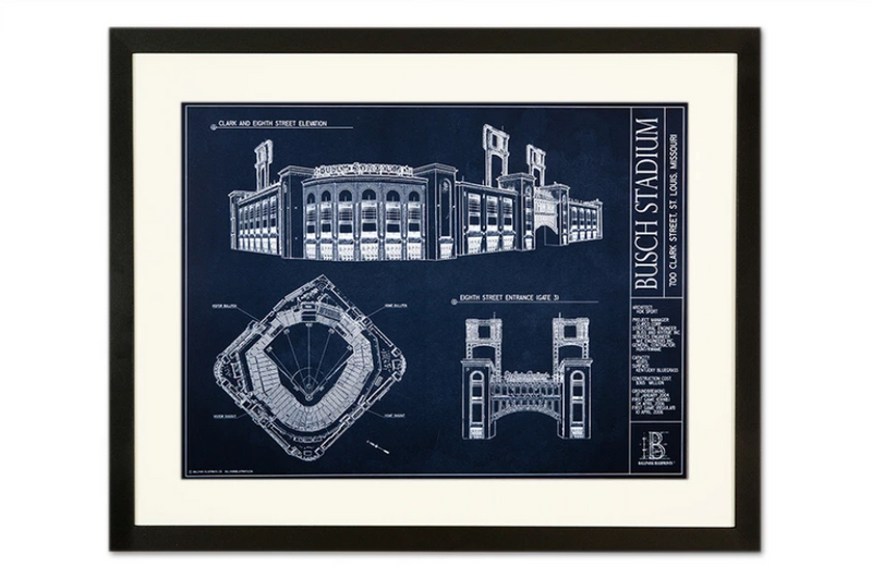 SALE - Busch Stadium - Small Framed Print (Black)