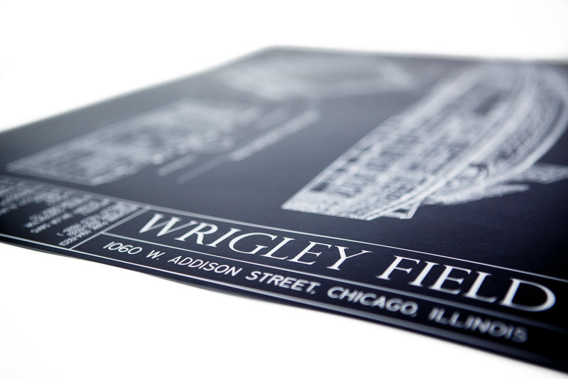 Our highly detailed Ballpark Blueprint of the Wrigley Field is a great gift for Dad.